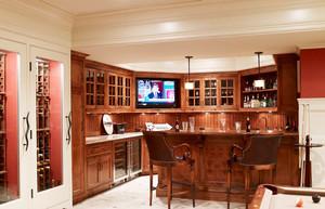 美式风格别墅开放式厨房吧台设计装修效果图赏析