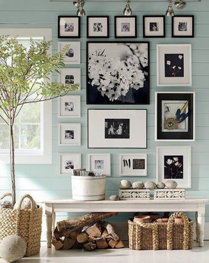 北欧风格单身公寓照片墙效果图赏析