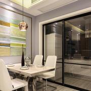 80平米简欧风格餐厅厨房隔断设计效果图
