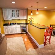 欧式风格二居室厨房吧台设计效果图鉴赏