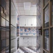 16平米现代风格厨房过道设计效果图