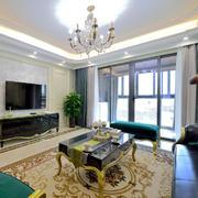 欧式风格大户型客厅电视背景墙设计效果图