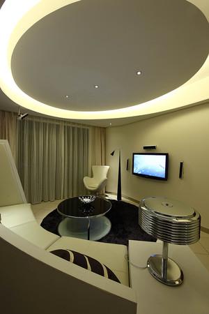 后现代简约风格大户型客厅装修效果图鉴赏