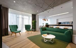 后现代极简主义风格两居室室内装修效果图赏析