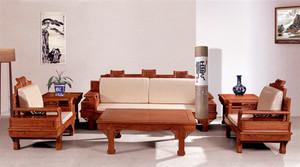 95平米中式风格客厅黄花梨家具效果图