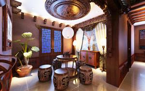 中式风格别墅室内装修效果图鉴赏
