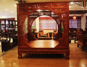120平米中式风格客厅梨花木家具效果图鉴赏