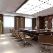 60平米现代风格办公室会议室设计效果图