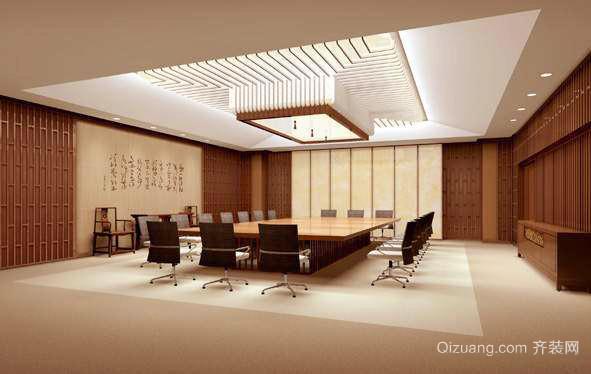 90平米精致现代风格办公室吊顶设计效果图赏析