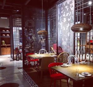 96平米现代风格时尚混搭餐厅设计效果图鉴赏