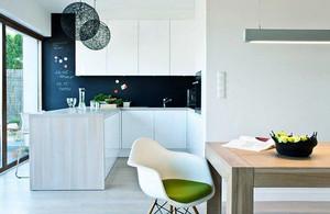 10平米北欧风格开放式厨房白色橱柜装修效果图赏析