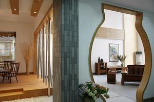 现代中式风格复式楼室内整体设计装修效果图赏析
