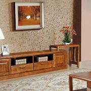 现代中式风格客厅实木组合柜设计装修效果图