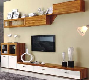 10平米后现代风格混搭客厅电视背景墙装修效果图