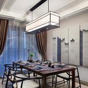 现代简约中式风格餐厅吊灯设计效果图赏析