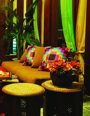 异域风情东南亚风格客厅设计整体装修效果图