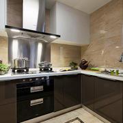 9平米现代简约风格方太整体厨房装修效果图