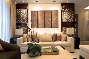 156平米现代中式风格三室两厅装修效果图赏析
