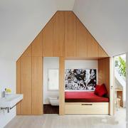 16平米北欧风格阁楼主卧室卫生间装修效果图