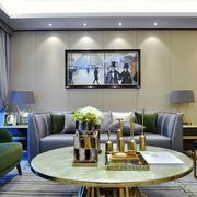 后现代风格时尚混搭客厅挂画装修效果图赏析