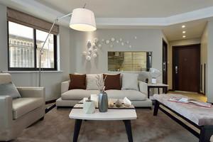 12平米现代简约风格菱形客厅设计效果图赏析