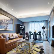 大户型美式风格客厅餐厅酒柜设计效果图赏析