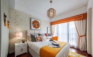 8平米东南亚风格女生卧室窗帘装修效果图赏析