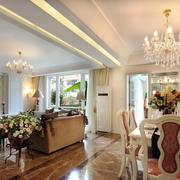 大户型欧式风格精致典雅客厅餐厅设计效果图赏析