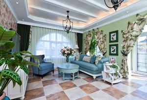 欧式田园风格两室两厅装修效果图鉴赏