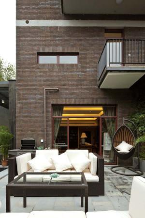 253平米现代中式风格复式楼设计整体装修效果图赏析