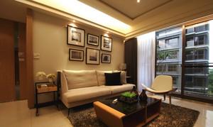 两居室现代风格客厅照片墙装修效果图