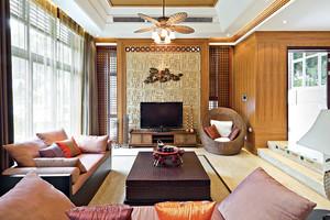 296平米现代简约中式风格自建别墅装修效果图