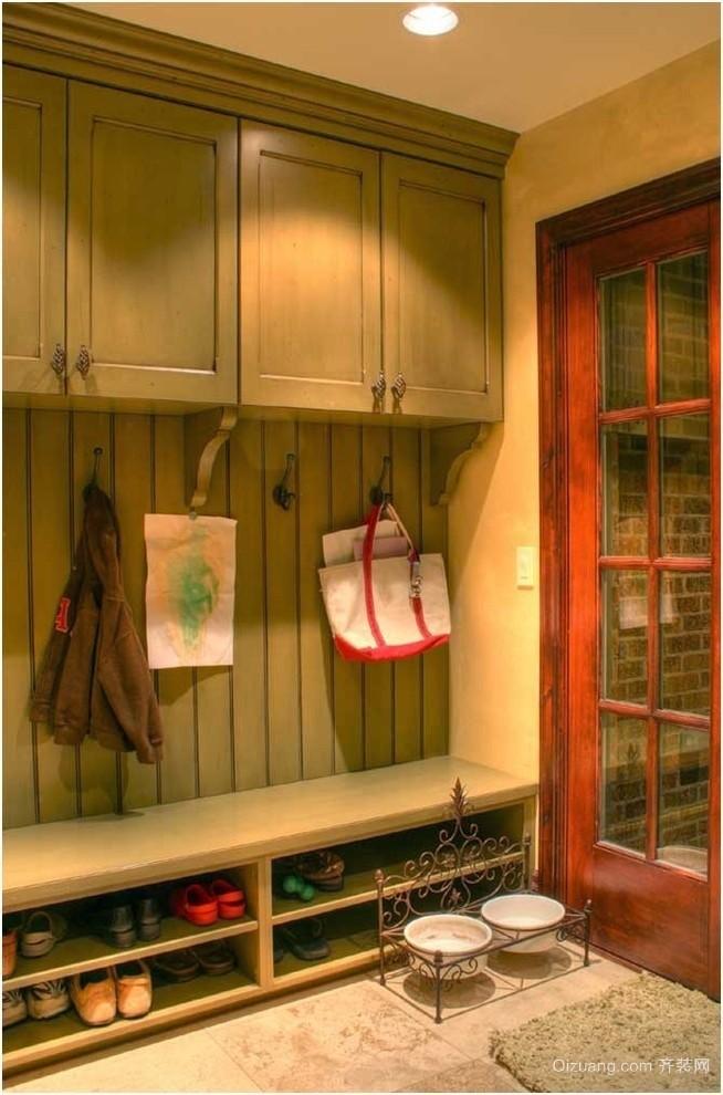 现代欧式大户型室内玄关鞋柜装修效果图鉴赏