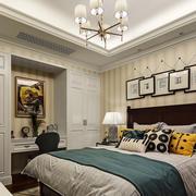 6平米简欧风格卧室背景墙装修效果图