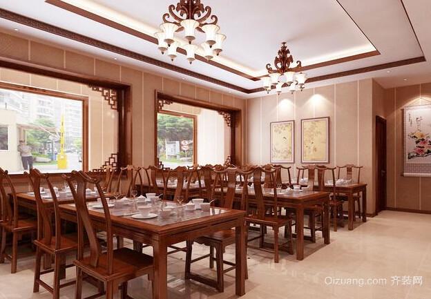 60平米仿古中式风格餐厅设计装修效果图
