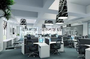 现代简约风格89平米办公室装修效果图赏析