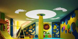 76平米现代简约风格幼儿园游戏区装修效果图