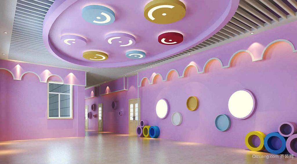 102平米都市清新风格幼儿园室内设计装修效果图