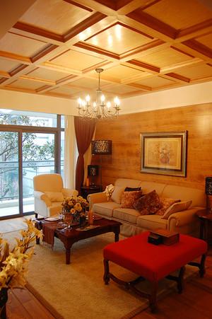 仿古朴素东南亚风格三室一厅一卫装修效果图赏析