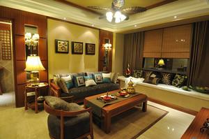 246平米古朴自然东南亚风格别墅装修效果图赏析
