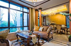欧式宫廷风216平米别墅室内装修效果图