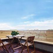 现代风格三层别墅阳台设计装修效果图