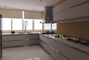 10平米现代简约风格厨房不锈钢橱柜装修效果图大全