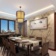 6平米现代中式风格餐厅挂画装修效果图