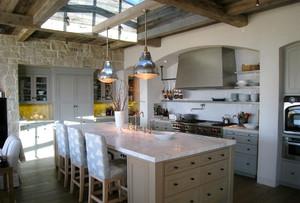 现代美式田园风格厨房装修效果图赏析