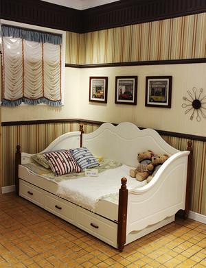 简约欧式风格英伦风儿童房床装修效果图