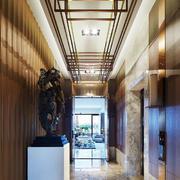 现代中式风格别墅过道吊顶装修效果图赏析