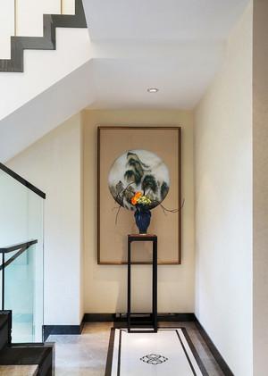 现代中式风格别墅楼梯挂画装修效果图