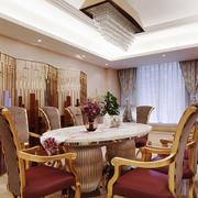 中西混搭风格别墅餐厅屏风装修效果图赏析