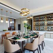 后现代简约风格大户型餐厅酒柜装修效果图